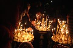 Pâques orthodoxe à Prague, République Tchèque Image stock
