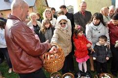 Pâques, paroissiens de l'église orthodoxe Image libre de droits