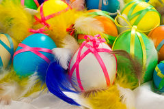 Pâques a peint des oeufs Photos libres de droits