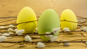 Pâques a peint des oeufs Photos stock