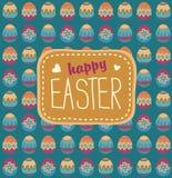 Pâques a peint le fond d'oeufs Photos libres de droits