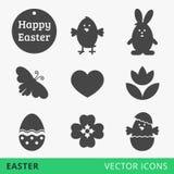 Pâques signe des icônes de Web de vecteur Images stock