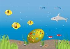 Pâques sous-marine Photos libres de droits