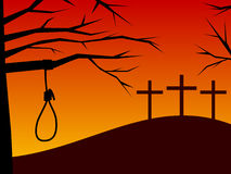 Pâques - trahison et repentir Photo libre de droits
