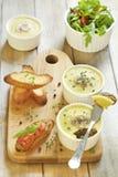 Pâté de foie fait maison de poulet avec des champignons Photo libre de droits