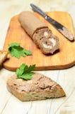 Pâté de petit pain et tranches de pain grillé Image stock