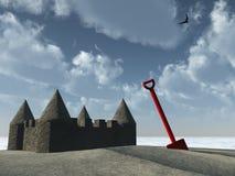 Pâté de sable et cosse Photographie stock libre de droits