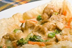 Pâté en croûte de poulet photo libre de droits
