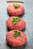 Pâtés d'hamburger Images stock