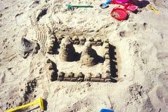 Pâtés de sable Photographie stock