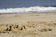 Pâtés de sable Photos libres de droits