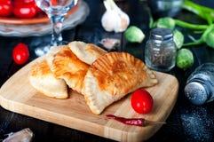 Pâtés en croûte cuits au four frais Image libre de droits