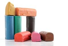 Pâte à modeler colorée Images stock