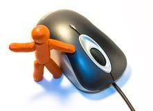 pâte à modeler de souris d'homme photos libres de droits