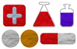 Pâte à modeler médicale d'étiquette Photographie stock libre de droits