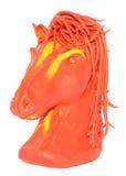 Pâte à modeler moulant la marionnette équine image stock