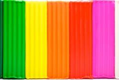 Pâte à modeler multicolore Photographie stock libre de droits