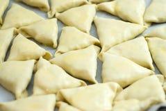 Pâte avec des pâtés de viande hachée Image libre de droits