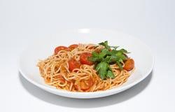 Pâte avec des tomates Photos libres de droits