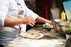Pâte délicieuse de pizza Image libre de droits