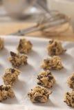Pâte de biscuit de puce de chocolat Photos libres de droits
