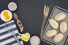 Pâte de pain Rolls Photo libre de droits