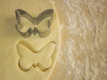 Pâte de papillon de forme Images libres de droits