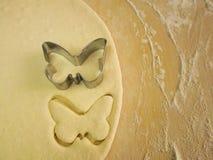 Pâte de papillon de forme Image stock