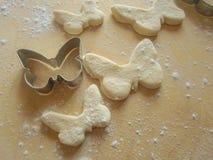 Pâte de papillon de forme Photos libres de droits
