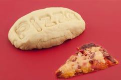 Pâte de pizza Image libre de droits