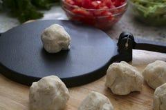 Pâte de tortilla Photo libre de droits