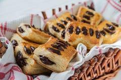 Pâte feuilletée avec du chocolat Photo libre de droits