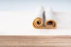 Pâte fraîche écrite entière de pâtes d'oeufs (roulée) Images libres de droits