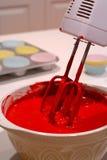 Pâte lisse de gâteau de mélange Photographie stock