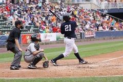 Pâte lisse Jésus Montero de Yankees de barre de Scranton Wilkes Image libre de droits