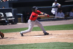 Pâte lisse Matt Sheely de Pawtucket Red Sox Images libres de droits