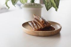 Pâte sèche par mangue de petit pain comme processus de conservation Photos stock