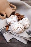Pâte sicilienne d'amande sur une serviette Image libre de droits