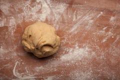 Pâte sur la farine Image libre de droits