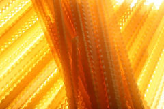 Pâtes éclairées à contre-jour. Image libre de droits