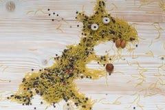 Pâtes animales de noisettes Photos libres de droits