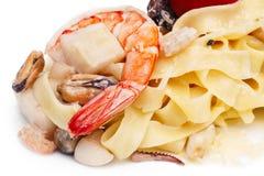 Pâtes avec des fruits de mer Photo libre de droits