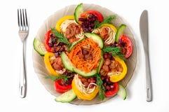 Pâtes avec des haricots et des légumes Photographie stock libre de droits