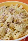 Pâtes avec l'artichaut Image libre de droits