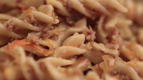 Pâtes avec la fin de viande hachée  clips vidéos