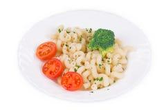 Pâtes avec le broccoli Photos libres de droits