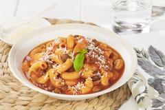 Pâtes avec les pâtes e Fagioli de haricots Photo libre de droits