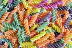 Pâtes colorées Photographie stock