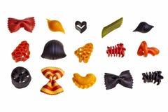 Pâtes colorées italiennes. Photographie stock