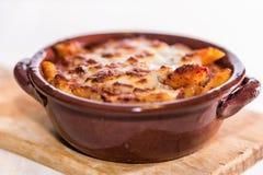 Pâtes cuites au four par casserole Image libre de droits